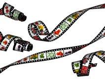 Golvende filmstrepen met verse gezonde voedselbeelden Royalty-vrije Stock Foto's