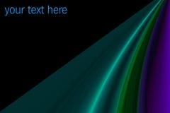 Golvende gekleurde stroken met ruimte voor tekst Royalty-vrije Stock Foto