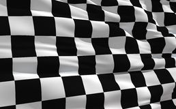 Golvende geruite vlag Royalty-vrije Stock Fotografie