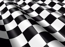 Golvende geruite vlag Stock Afbeeldingen