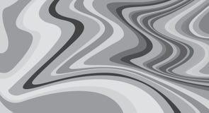 Golvende, gestreepte oppervlakten in grayscale, op abstract patroon Royalty-vrije Stock Fotografie