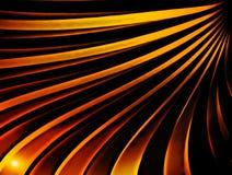Golvende gouden stralen vector illustratie
