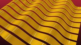 Golvende Gouden Strepensinus stock videobeelden