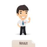 Golvende Manager royalty-vrije illustratie