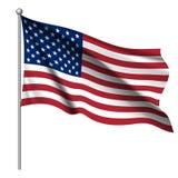 Golvende nationale vlag van de Verenigde Staten van Amerika vector illustratie