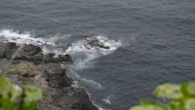 Golvende overzees in een winderige lucht stock video