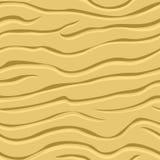 Golvende patronen in het zand Royalty-vrije Stock Foto's