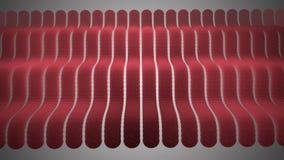 Golvende Rode Strepensinus stock videobeelden