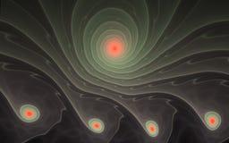 Golvende spiraalvormige abstractie Stock Foto's