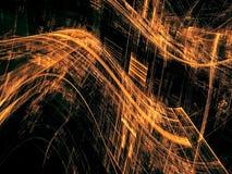 Golvende technologie-achtergrond - abstract digitaal geproduceerd beeld Stock Fotografie