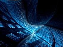 Golvende technologieachtergrond - abstract digitaal geproduceerd beeld Royalty-vrije Stock Afbeelding