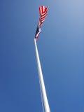 Golvende vlag Royalty-vrije Stock Foto's
