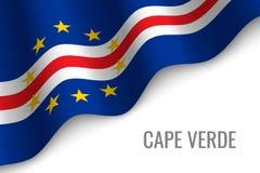 golvende vlag met copyspace vector illustratie