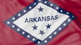 Golvende vlag van de staat van Arkansas het 3d teruggeven Stock Afbeelding