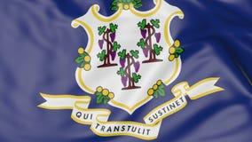 Golvende vlag van de staat van Connecticut het 3d teruggeven Royalty-vrije Stock Afbeelding