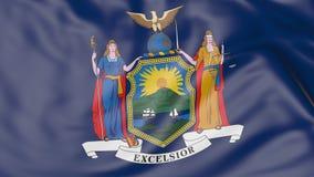 Golvende vlag van de staat van New York het 3d teruggeven Royalty-vrije Stock Afbeeldingen