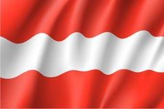 Golvende vlag van de staat van Oostenrijk Stock Afbeeldingen