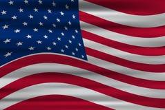 Golvende vlag van de Verenigde Staten van Amerika Stock Foto