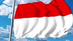 Golvende vlag van Hesse een staat van Duitsland stock videobeelden