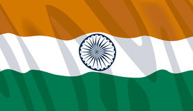 Golvende vlag van India royalty-vrije illustratie