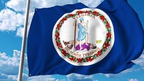 Golvende vlag van Virginia royalty-vrije illustratie