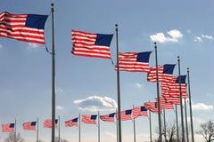 Golvende Vlaggen Stock Afbeelding