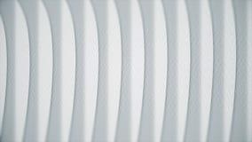 Golvende witte lijnen op papier Abstracte animatie van document textuur met lijnen Krommendraai in rechte lijnen stock fotografie