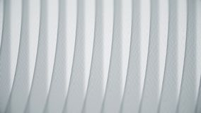 Golvende witte lijnen op papier Abstracte animatie van document textuur met lijnen Krommendraai in rechte lijnen royalty-vrije stock afbeeldingen