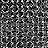 Golvende Zwart-witte Pinwhell en Strepenillustratie Royalty-vrije Stock Foto's