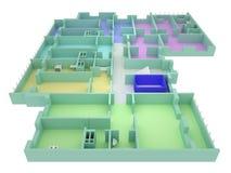 golvhusplan Fotografering för Bildbyråer