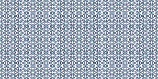 Golvtegelplattor med den abstrakta geometriska modellen Seamless bakgrund blå white royaltyfri illustrationer
