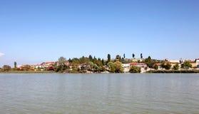 Golyazi Village and Uluabat Lake Royalty Free Stock Photos