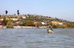 Golyazi Village and Uluabat Lake Stock Images