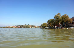 Golyazi Village and Uluabat Lake Royalty Free Stock Photography