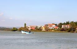 Golyazi Village and Uluabat Lake Stock Photography