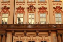 Golz-Kinsky宫殿(国家肖像馆)的华丽门面, Pra 免版税库存照片
