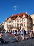 Golz-Kinsky palace, Prague, Czech Republic. The palace of the Golz-Kinsky family in the Prague's old town's square, Prague, Czech Republic Stock Image