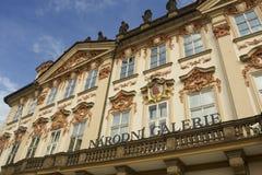 Golz-Kinskypalast-National Gallery in Prag Stockbild