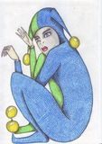 Gom X van het Clows Fijne Potlood royalty-vrije illustratie