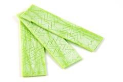 Goma de mastigação verde Fotografia de Stock Royalty Free