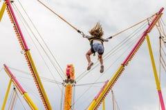 Goma de salto en un parque de atracciones Imagen de archivo