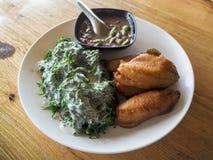 Goma del chile y pescados fritos Foto de archivo libre de regalías