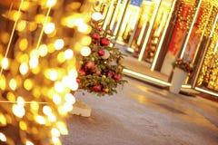 GOMA del ` s del Año Nuevo justa en cuadrado rojo Fotografía de archivo libre de regalías
