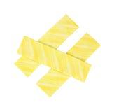 Goma flavored limão imagens de stock royalty free