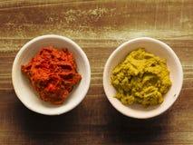Goma india roja y amarilla rústica del curry imagen de archivo