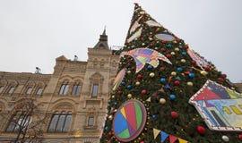 GOMA universal de la tienda de la tubería de la decoración de los días de fiesta del Año Nuevo de la Navidad, Plaza Roja en Moscú Fotografía de archivo