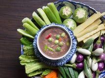 Goma y verdura tailandesas del chile de la comida Fotos de archivo