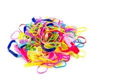 Gomas coloridas aisladas en blanco Imagen de archivo libre de regalías
