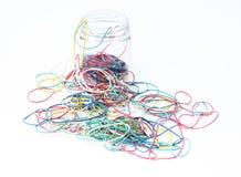Gomas coloridas fuera del rectángulo Imagen de archivo