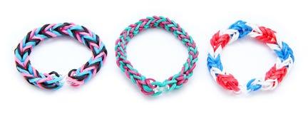 Gomas de la pulsera colorida del telar Imagen de archivo libre de regalías